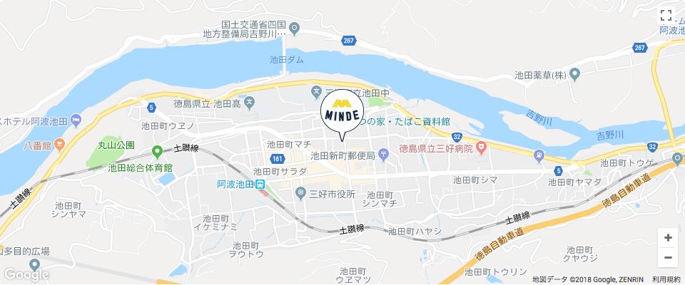 MINDEまでの地図